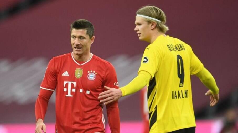 Lewandowski e Haaland