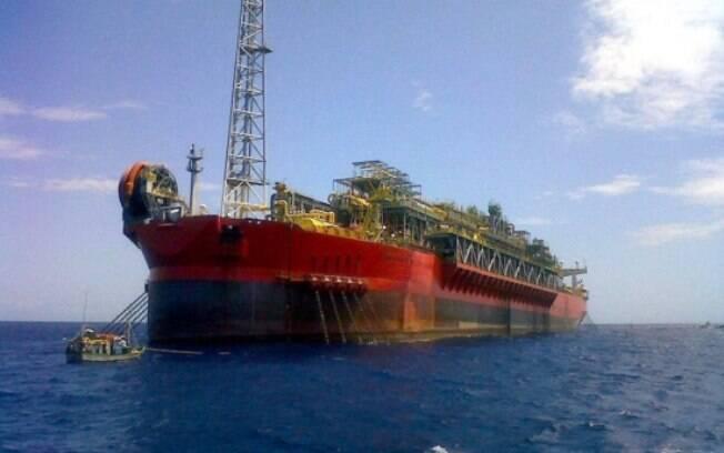 Imagem do navio FPSO Cidade de São Mateus, em Aracruz (ES): ao menos cinco morreram