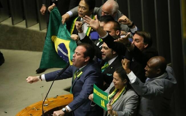 Votação do pedido de impeachment de Dilma Rousseff na Cãmara. Foto: Marcelo Camargo/ Agência Brasil - 17.04.16