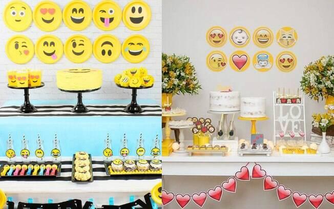Na hora de escolher as cores que estarão presentes na festa de emoji, é importante lembrar que o amarelo estará presente