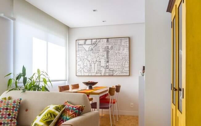 Neste projeto, os arquitetos integraram os ambientes para priorizar a circulação da casa