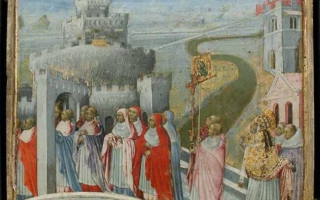 Procissão para purificar o ar contra a peste
