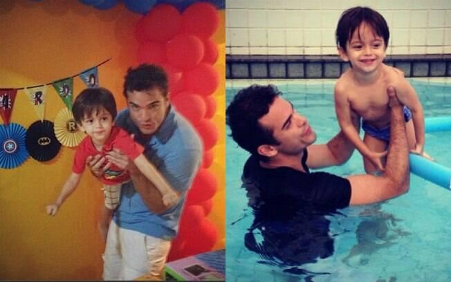 Sidney Sampaio e o filho, Leo