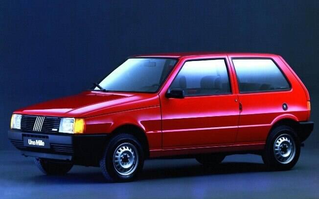 Fiat Uno Mille: compacto tinha o preço atraente e o baixo consumo como atrativos no ano do Plano Real