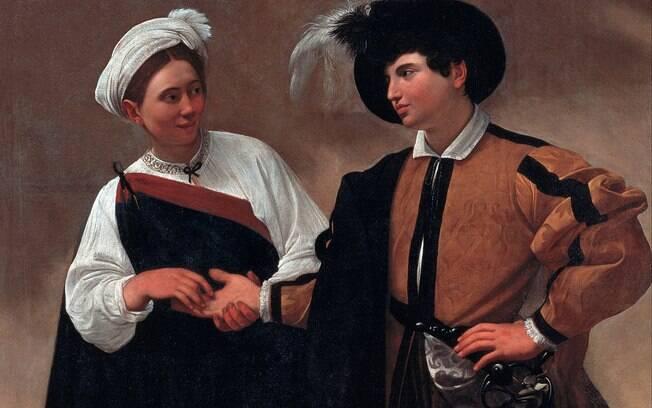 Pintura de Caravaggio representa vidente ao ler a mão