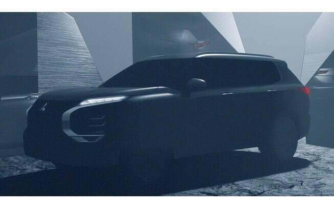 Teaser do Mitsubishi Outlander revela nova linguagem de design, agora com a grade