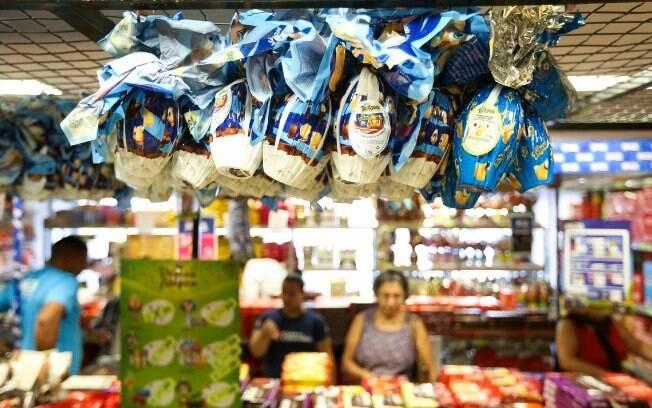 Os ovos de Páscoa de até 100 gramas estão com preço médio de R$ 36,73, 40,52% acima do valor registrado em 2018