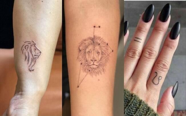 tatuagens representando o signo de leão