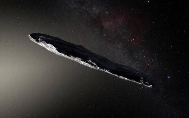 Asteroide em formato de charuto, cujo nome é Oumuamua foi identificado por cientistas em outubro do ano passado