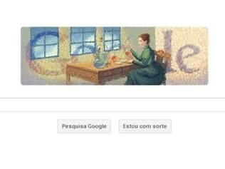 Doodle em homenagem a Marie Curie