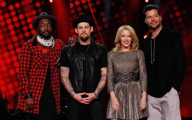 Will.i.am, Joel Madden, Kylie Minogue e Ricky Martin na edição australiana do