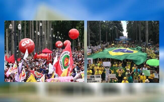 Movimentos de esquerda e de direita marcaram protestos para o domingo (21) contra o presidente Michel Temer