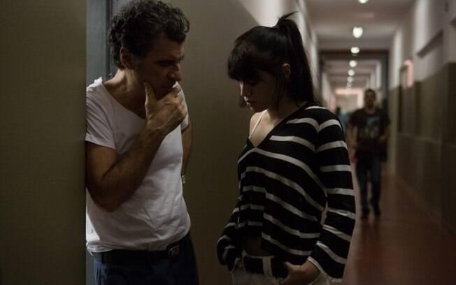 Com Paulo Betti em cena do filme