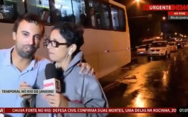 Homem invade link da GloboNews