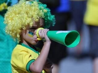 Brasileiros pintaram o rosto para torcer pela seleção