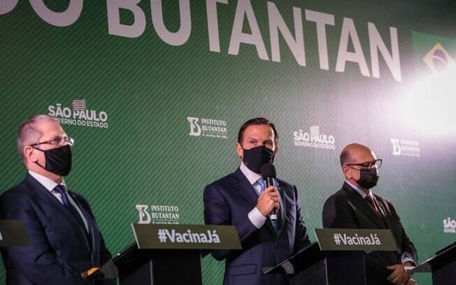 João Doria, Dimas Covas e Jean Gorinchteyn