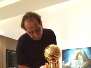 Alexandre Kalil voltou a mostrar seu bom humor e fanatismo pelo Atlético