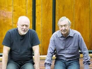 Remanescentes. A dupla David Gilmour e Nick Mason, os restantes da formação original do Floyd
