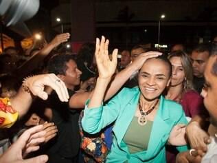 Marina Silva participa de ato público na Praça do Ferreira, Fortaleza (CE), no dia 13/9
