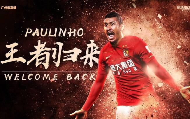 Paulinho está de volta ao Guangzhou Evergrande