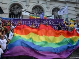 Movimento Espírito Lílas em manifestação contra o 'Estatuto do Nascituro', em março