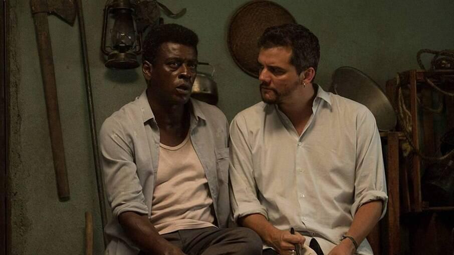 'Marighella': Seu Jorge e o diretor Wagner Moura no se