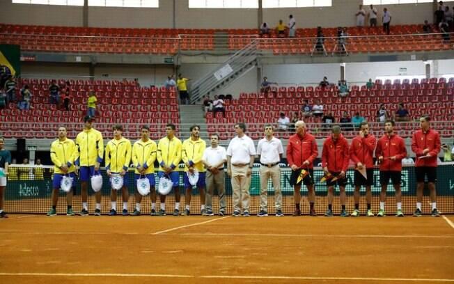 Brasil e Bélgica se enfrentaram nas eliminatórias para a Copa Davis. Os belgas avançaram pelo placar de 3 a 1