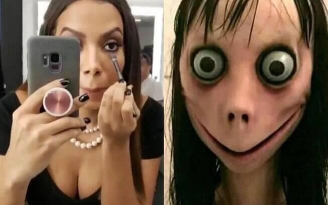 Anitta aparece retocando maquiagem e é comparada a Momo