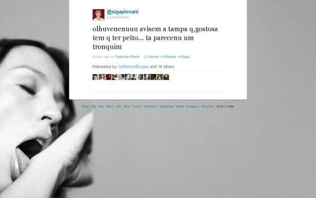 Luana Piovani alfineta atriz via Twitter