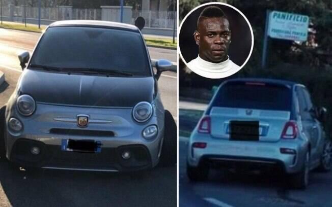 Balotelli deixou o carro para trás após acidente