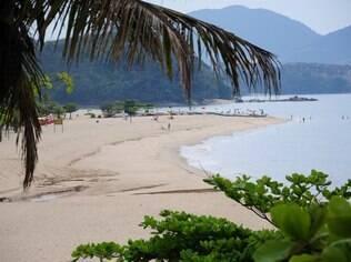 Praia da Cocanha, em Caraguatatuba