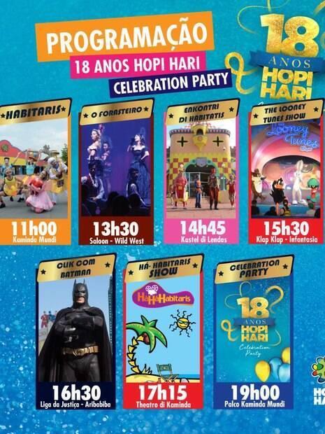 Detalhes da programação de novembro no Hopi Hari