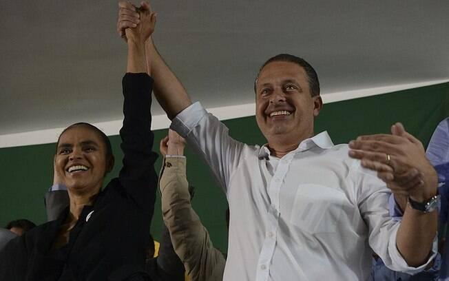 Marina Silva era vice na chapa de Eduardo Campos em 2014
