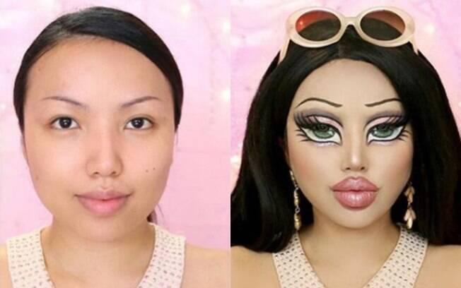 Experiente no ramo de maquiagem artística, Promisse Tamang já havia se transformado em uma Bratz em 2017