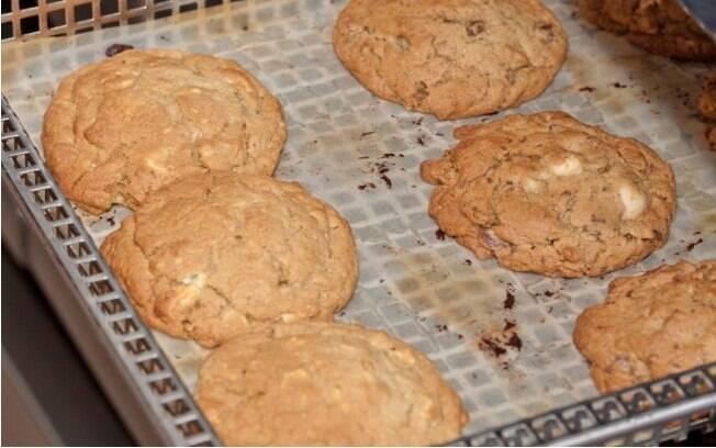 cookies em uma forma