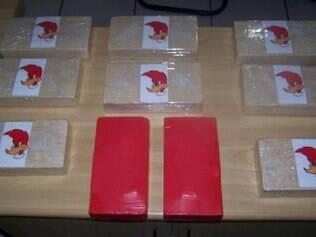 Algumas das drogas apreendidas traziam desenhos para demarcar a qualidade do