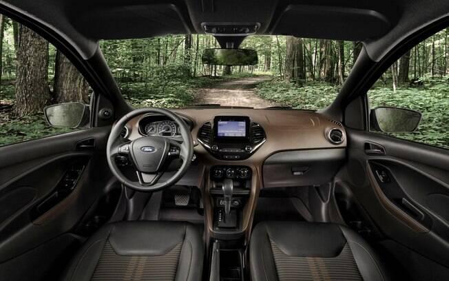 Novo Ford Ka Freestyle vem com 6 airbags entre os itens de série, o que é um diferencial quando o assunto é segurança