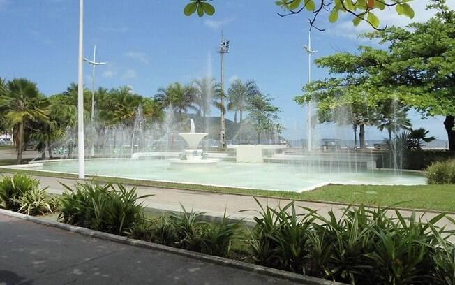 Fonte do Sapo é uma das atrações das praias de Santos. É uma ótima opção para levar a criançada para andar de bicicleta ou patins