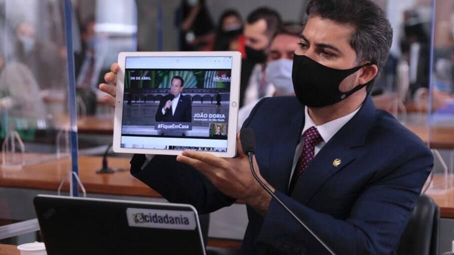 Marcos Rogério, um dos senadores da CPI que apoiam o governo de Jair Bolsonaro