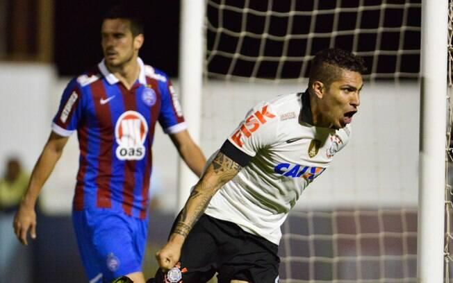 Guerrero comemora primeiro gol do Corinthians em Mogi Mirim. Foto  Fernando  Dantas Gazeta 49ce66090ad18