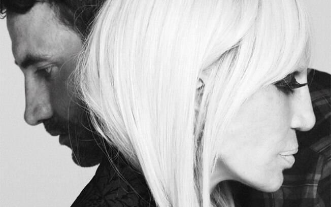 Donatella Versace postou em seu Instagram uma foto com Riccardo Tisci, estilista da grife Givenchy