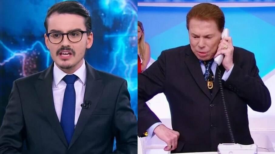 Dudu Camargo e Silvio Santos