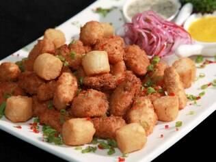 A Jalea do restaurante Inka tem frutos no mar empanados em canela e panko
