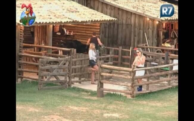 Raquel conta com orgulho os detalhes da Prova do Fazendeiro