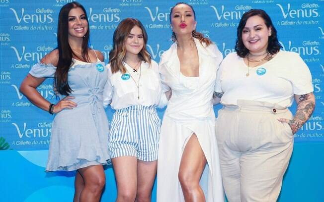 Sabrina Sato, Maísa, Evelyn Regly e Jéssica Lopes falam sobre suas dicas de beleza na Casa de Praia Gillette Venus