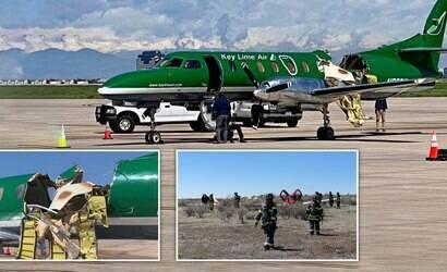 Aeronaves colidem e piloto pousa sem pedaço do avião