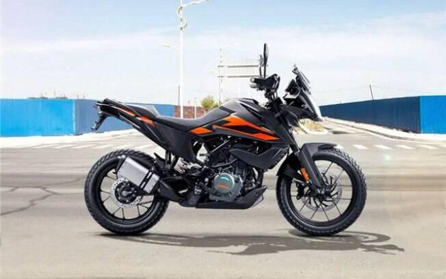KTM 250 Adventure será oferecida com uma combinação das cores preta e laranja em diversos mercados emergentes