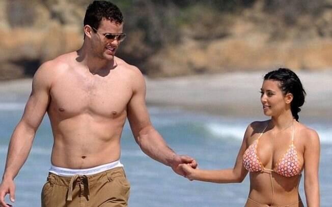 Kim Kardashian e o marido Kris Humphries