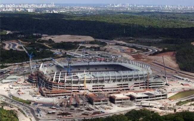A Arena de Pernambuco será usada na Copa das  Confederações, onde receberá três partidas