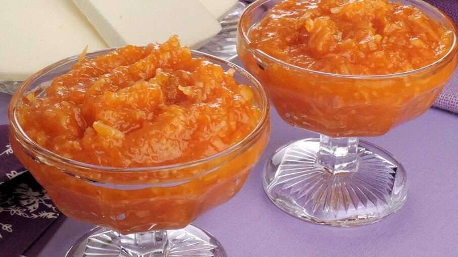 O doce é feito com um tipo específico de abóbora